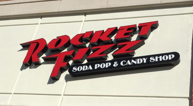 rocket fizz sign